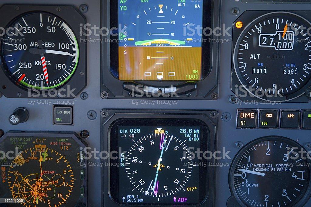 PC12 Aircraft Cockpit Instruments royalty-free stock photo