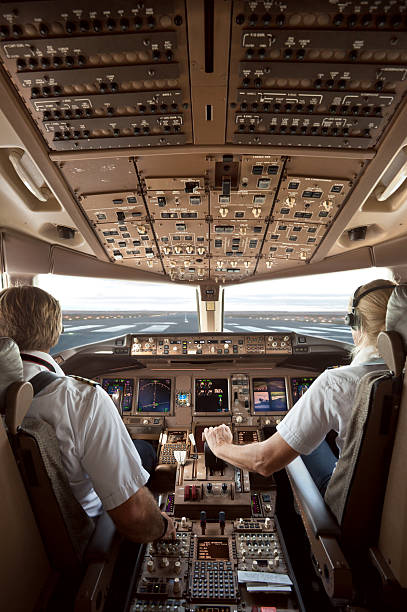 aircraft cockpit - cockpit stock photos and pictures