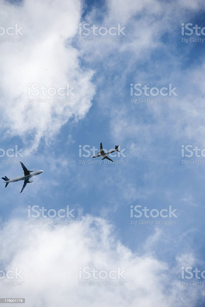 Aircraft collission - aviation accident royalty-free stock photo