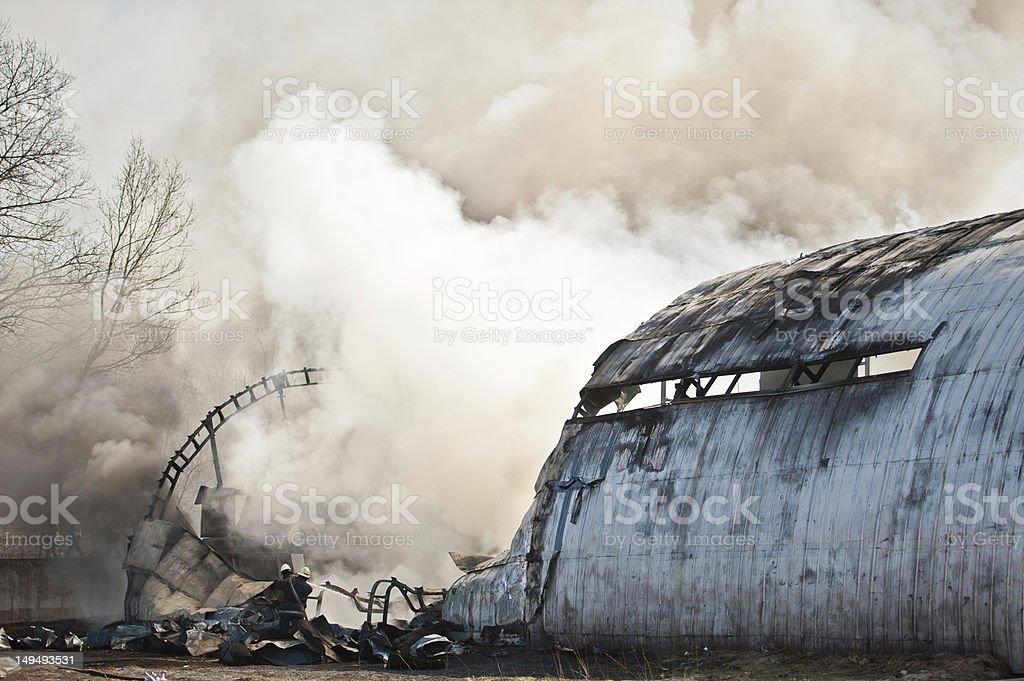 Aircraft crash stock photo