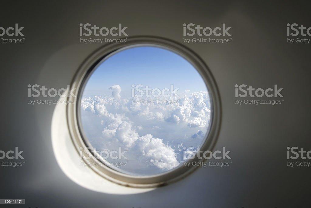 Aircraft crew window royalty-free stock photo