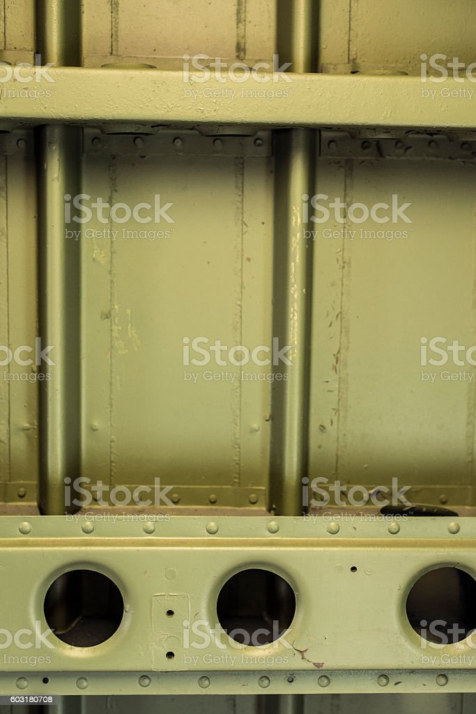 Aircraft Cross Ribs with bracing. stock photo