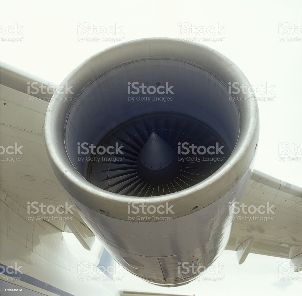 Aircraft engine. stock photo