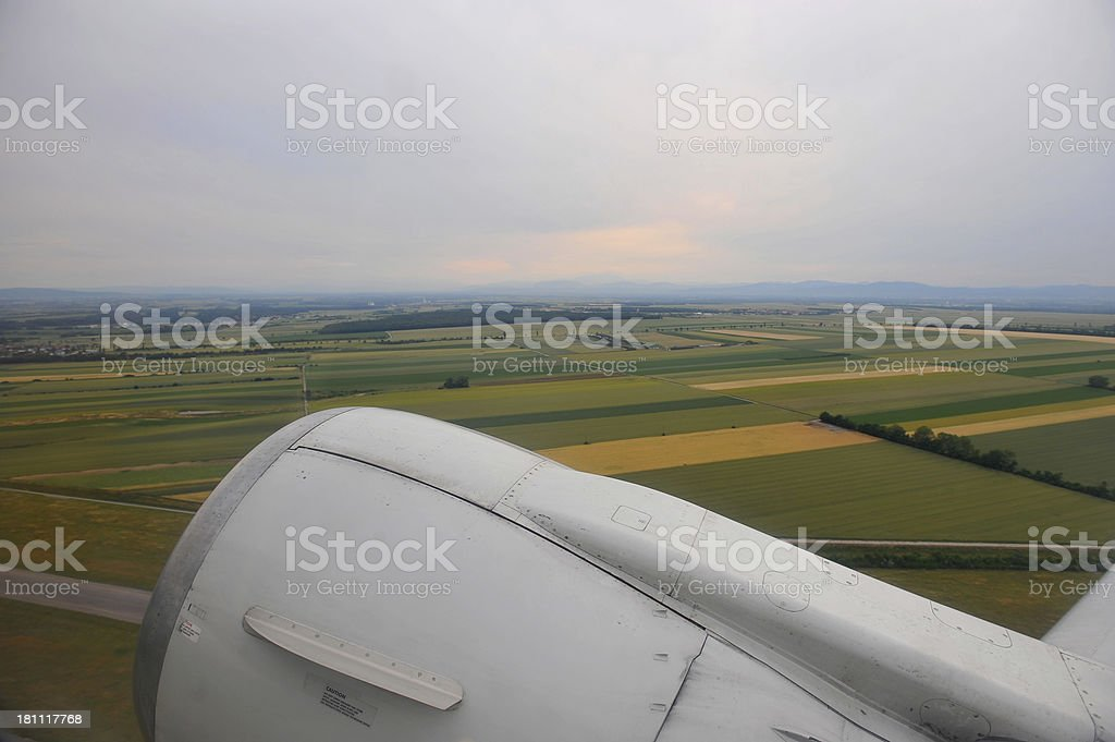 aircraft engine stock photo
