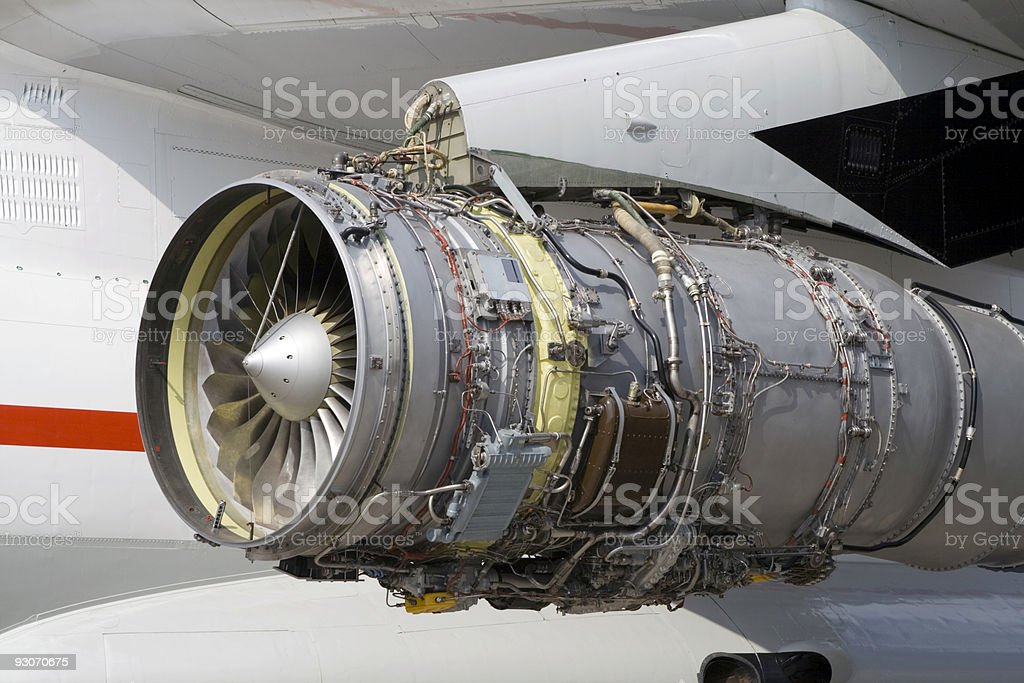 Aircraft engine royalty-free stock photo