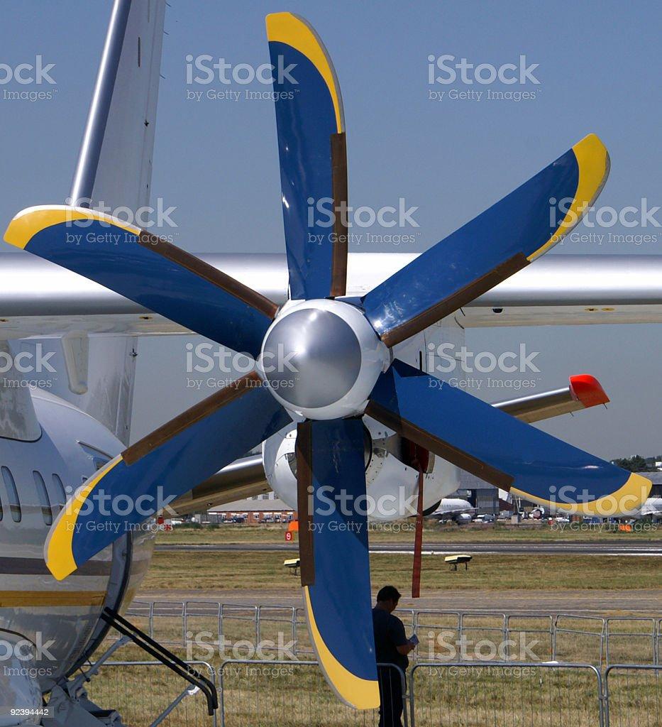 Aircraft engine propellor royalty-free stock photo