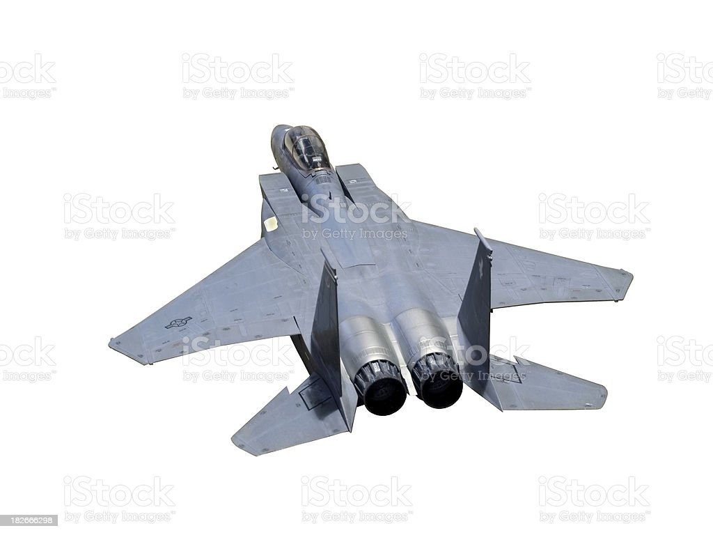 Aircraft F-15 USAF Model (with path) royalty-free stock photo
