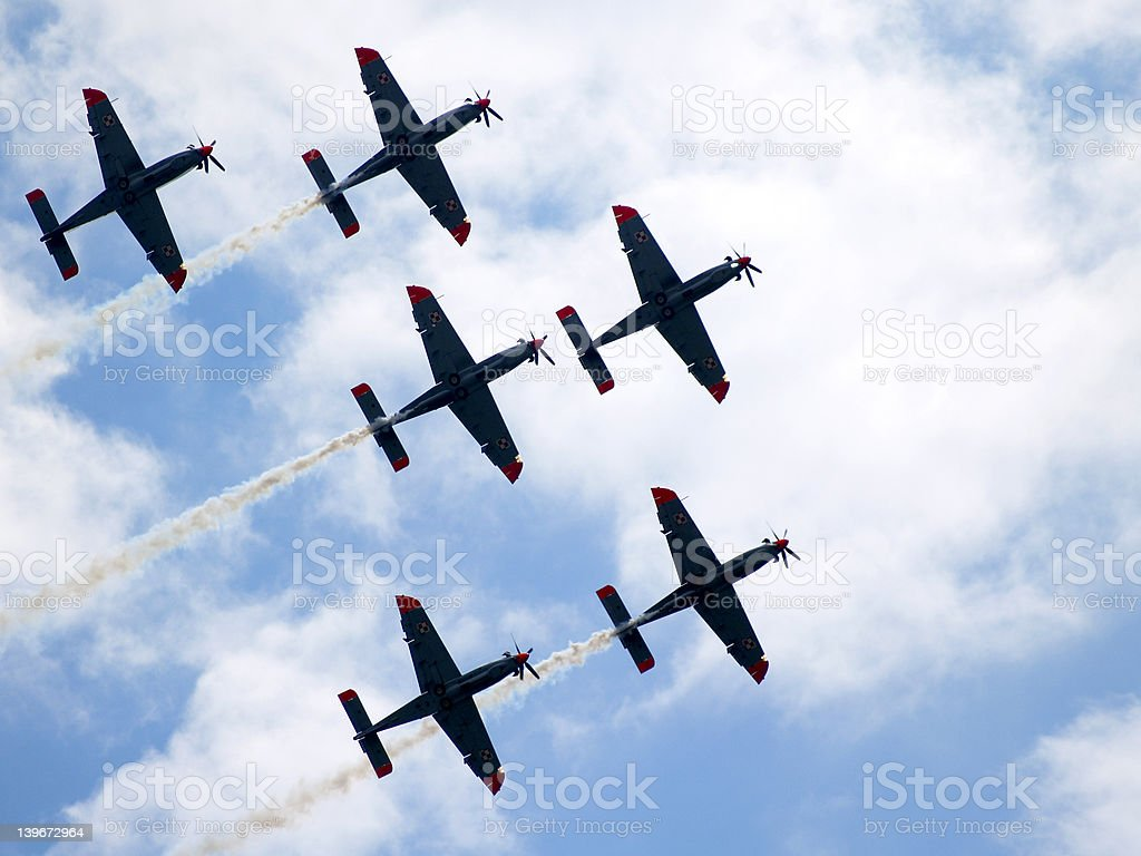 Aircraft formation royalty-free stock photo