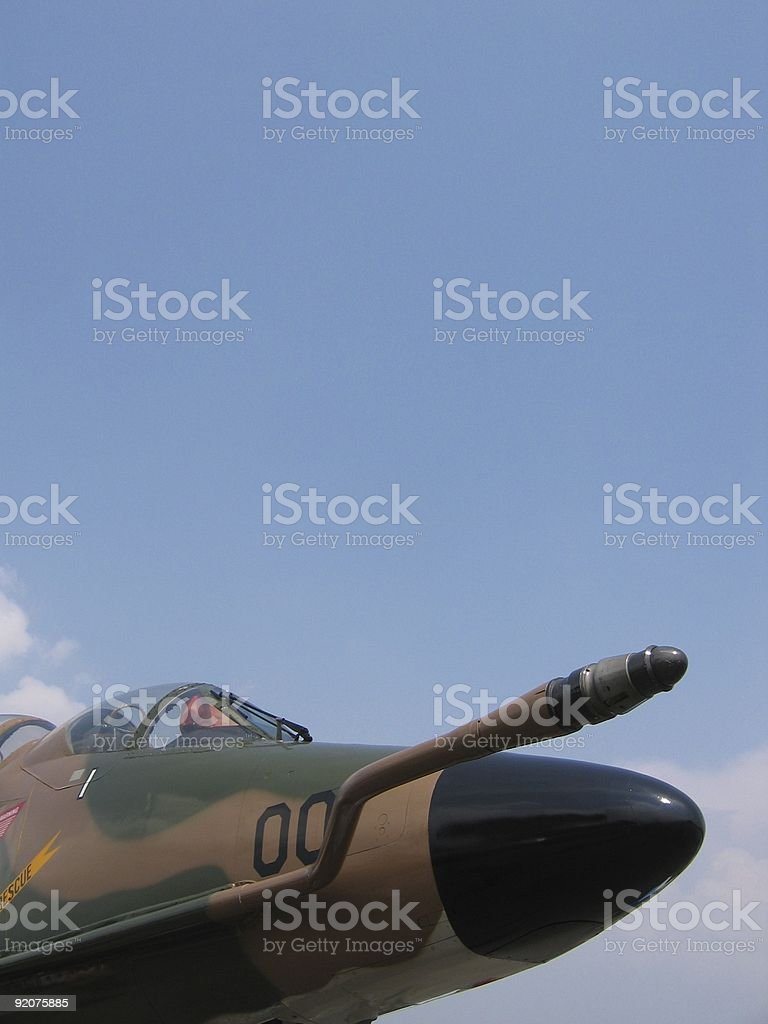 Aircraft - Front of skyhawk royalty-free stock photo