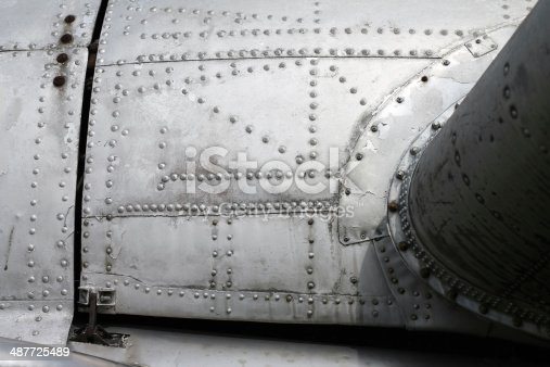 istock Aircraft fuselage and wing 487725489