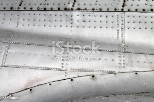 istock Aircraft fuselage and wing 487745559