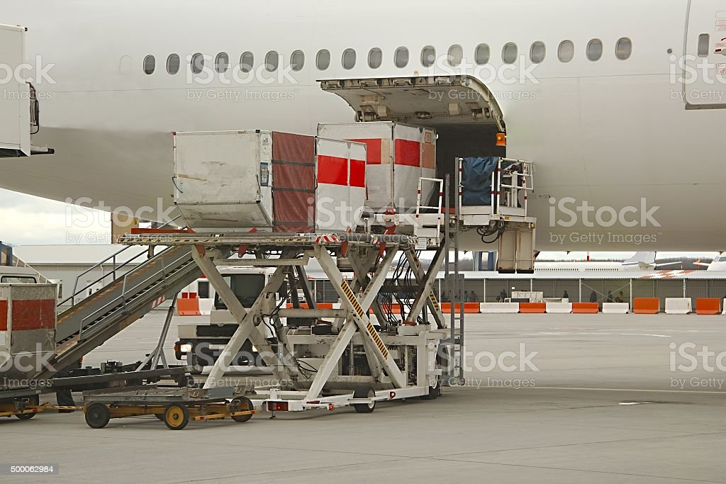 Aircraft Ground Handling stock photo