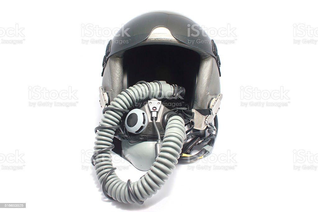 Aircraft helmet stock photo