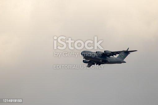 istock US aircraft Hercules C-130 near Ramstein Airbase 1214919153