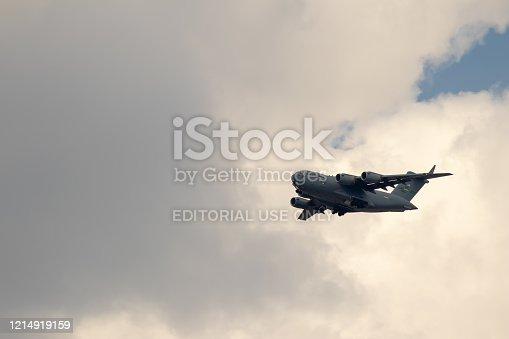 istock US aircraft Hercules C-130 near Ramstein Airbase 1214919159