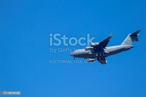 istock US aircraft Hercules C-130 near Ramstein Airbase 1214919162