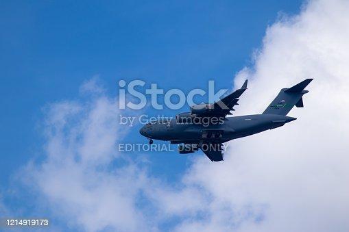 istock US aircraft Hercules C-130 near Ramstein Airbase 1214919173
