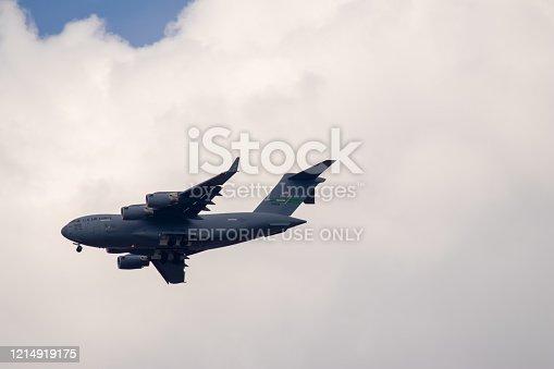 istock US aircraft Hercules C-130 near Ramstein Airbase 1214919175