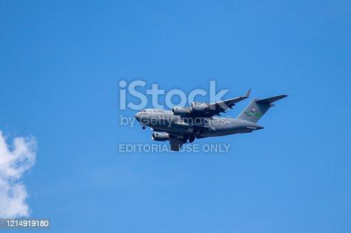 istock US aircraft Hercules C-130 near Ramstein Airbase 1214919180