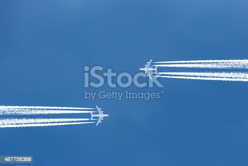 istock aircraft high in the sky 467756366