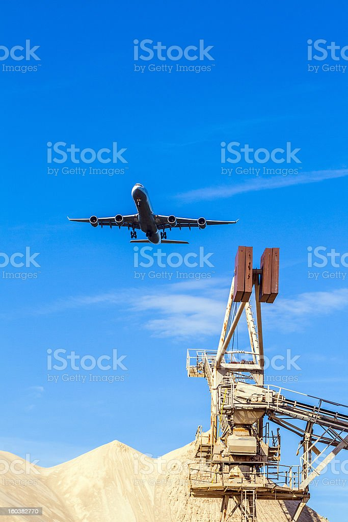 aircraft in approach for a landing royalty-free stock photo
