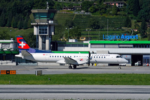 Aircraft in Lugano Airport – Foto