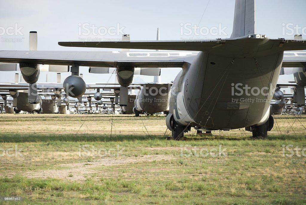 C - 130 aerei di Storage foto stock royalty-free