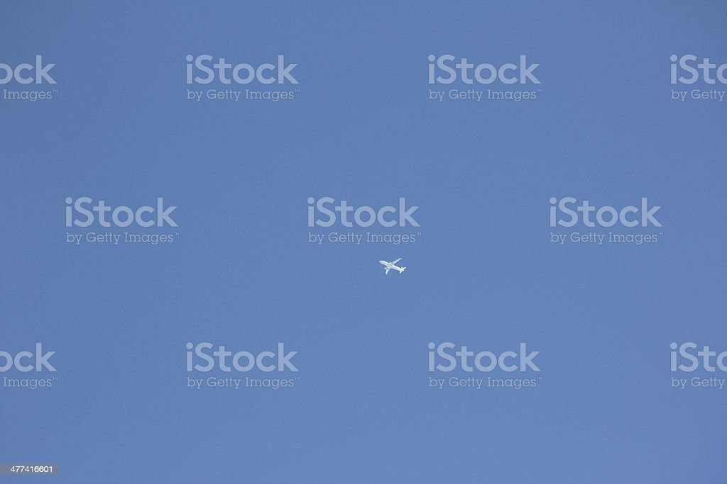Aircraft in the Blue Clear Sky royalty-free stock photo
