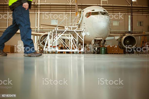 Aircraft In The Hangar Stock Photo - Download Image Now
