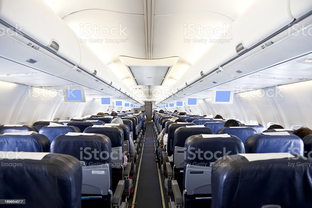 aircraft inside stock photo