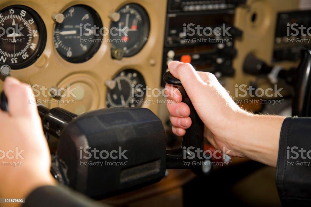 Aircraft Instrument Panel stock photo