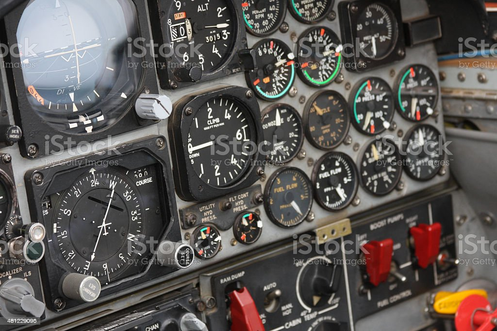 Aircraft Instrument Panel : Aircraft instrument panel stock photo more pictures of