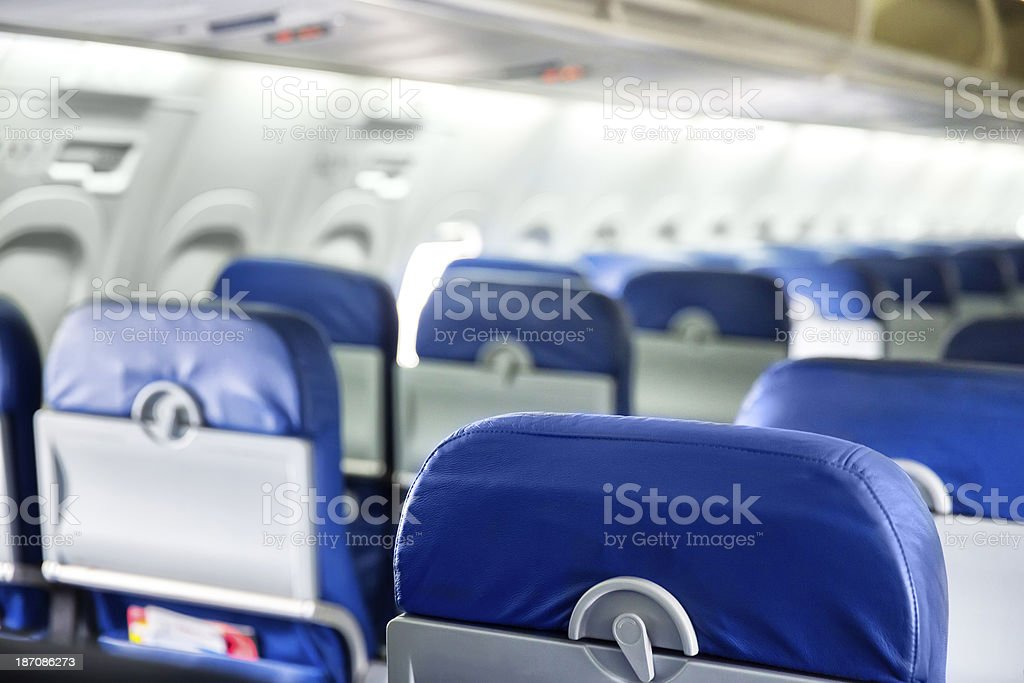Aircraft interior stock photo