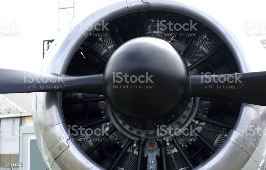 Aircraft Jet Engine Intake stock photo