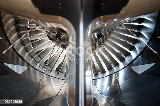 Inside view of an Aircraft Jet Engine