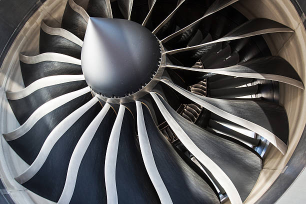 Aircraft Jet Engine stock photo