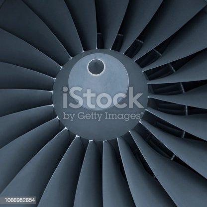 884224094istockphoto Aircraft jet engine turbine 1066982654