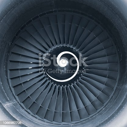 884224094 istock photo Aircraft jet engine turbine 1066982706