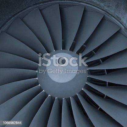 884224094istockphoto Aircraft jet engine turbine 1066982844