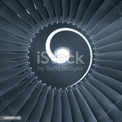 884224094 istock photo Aircraft jet engine turbine 1066983180