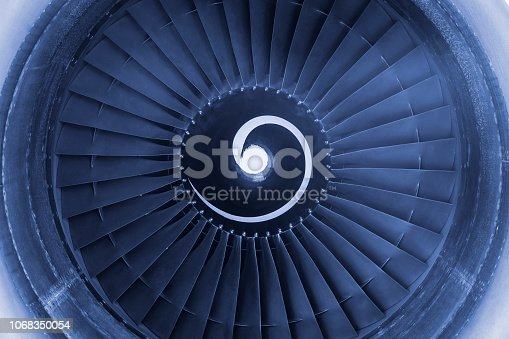 884224094 istock photo Aircraft jet engine turbine 1068350054