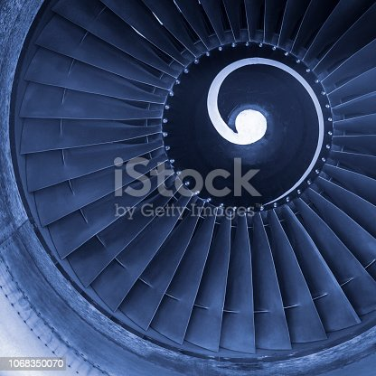 884224094 istock photo Aircraft jet engine turbine 1068350070