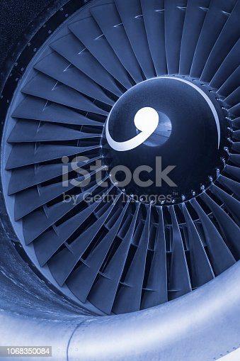 884224094 istock photo Aircraft jet engine turbine 1068350084