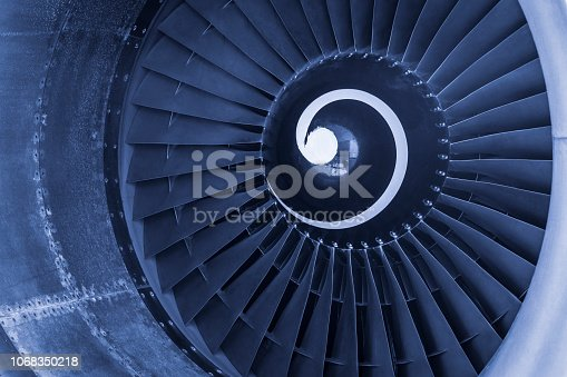 884224094 istock photo Aircraft jet engine turbine 1068350218