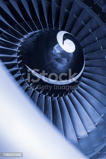 884224094 istock photo Aircraft jet engine turbine 1068350382