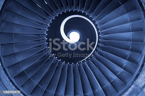 884224094 istock photo Aircraft jet engine turbine 1068350410
