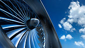 istock Aircraft jet engine turbine 1257781827