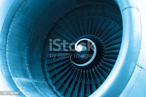 istock Aircraft jet engine turbine 157718269
