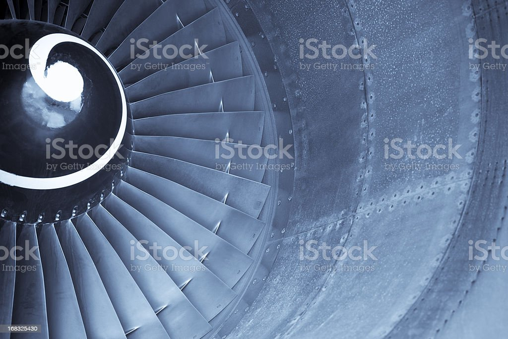 Aircraft jet engine turbine royalty-free stock photo