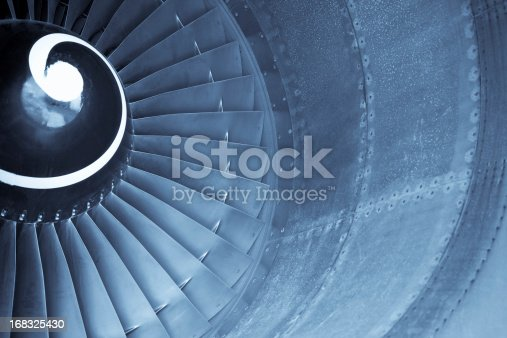 istock Aircraft jet engine turbine 168325430